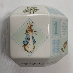 Peter Rabbit Wedgwood Bank Hexagon Money Box